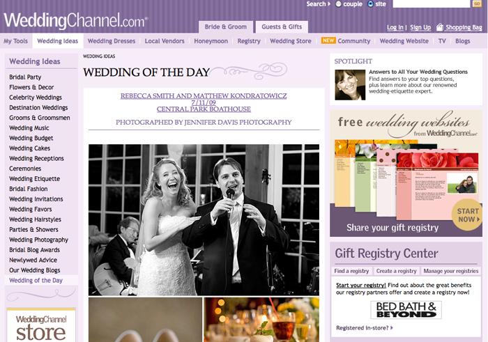 matt rebecca featured on wedding channel